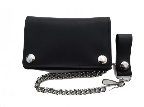 <img class='new_mark_img1' src='https://img.shop-pro.jp/img/new/icons15.gif' style='border:none;display:inline;margin:0px;padding:0px;width:auto;' />OIL TANNED LEATHER SHORT CHAIN  WALLET  チェーンつき ショートウォレット オイルタン BLACK  USA製