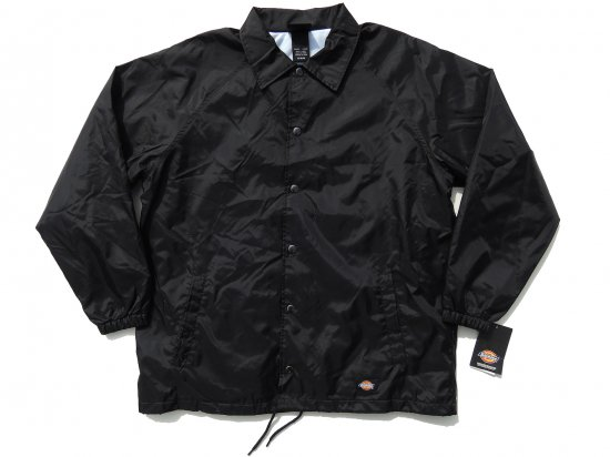 DICKIES  SNAP FRONT NYLON JACKET  #76242 コーチジャケット BLACK