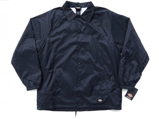 DICKIES  SNAP FRONT NYLON JACKET  #76242 コーチジャケット DARK NAVY