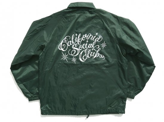 <img class='new_mark_img1' src='https://img.shop-pro.jp/img/new/icons53.gif' style='border:none;display:inline;margin:0px;padding:0px;width:auto;' />California Social Club SHOP VAN Coaches Jacket コーチジャケット DARK GREEN
