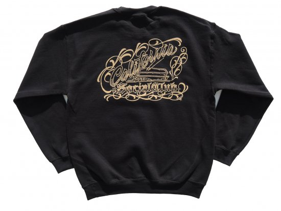 <img class='new_mark_img1' src='https://img.shop-pro.jp/img/new/icons15.gif' style='border:none;display:inline;margin:0px;padding:0px;width:auto;' />Cholo's Custom X California Social Club Collaboration SWEATSHIRTS スウェットシャツ BLACK ブラック