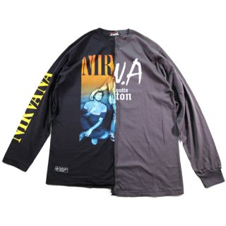 DOKKING L/S TEE BLACK/D.GRAY TYPE2-A