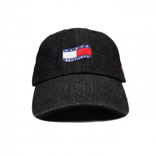 TRICOLOR FLAG POLO CAP BLACK DENIM