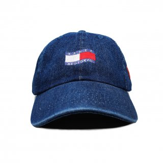 TRICOLOR FLAG POLO CAP BLUE DENIM