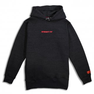 DENIM SWEAT HOODIE BLACK DENIM