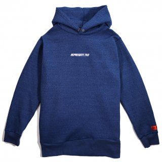 DENIM SWEAT HOODIE BLUE DENIM