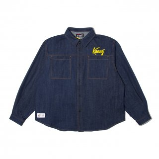 KT CHAIN EMB DENIM SHIRT