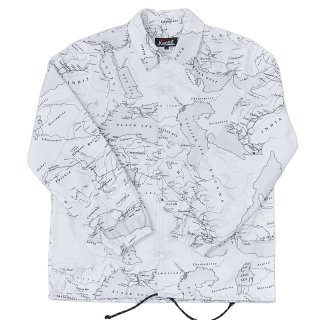 BABYLONIA MAP CORCH JACKET WHITE