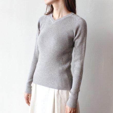 ヤクコットン リブ編み 無縫製セーター