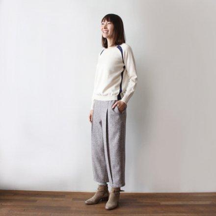 ヤクコットン×ラメレース編み セーター