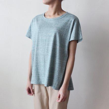 吊り編み天竺 オーガニックコットン フレンチ袖Tシャツ