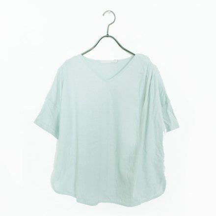 吊り編み天竺 オーガニックコットン タック入りTシャツ