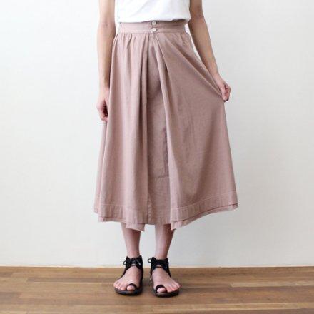 天竺×布帛コットンスカート