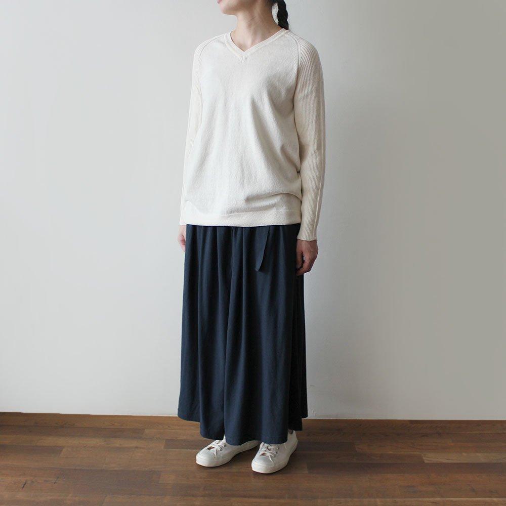 【新色入荷】定番 天竺ワイドパンツ / オーガニックコットン