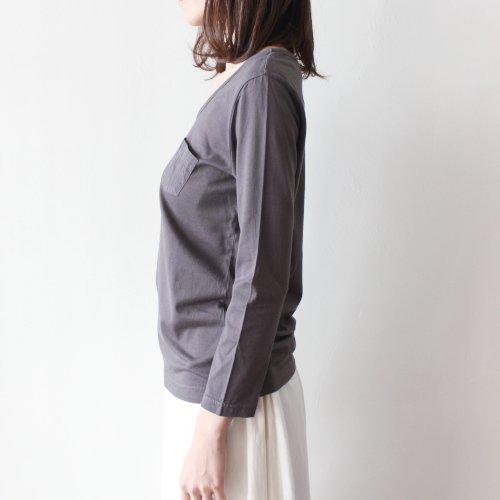 胸ポケット付き 長袖Tシャツ / スーピマーコットン / オーガニック