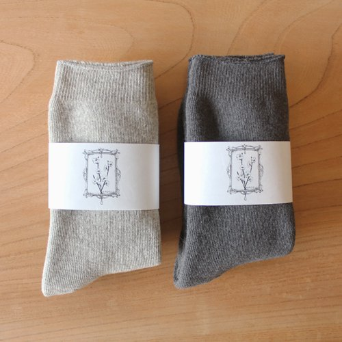 ヤクコットン パイル靴下 / オーガニックコットン