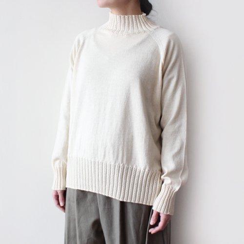 【新作入荷】ヤクコットン ボトルネックセーター / オーガニックコットン