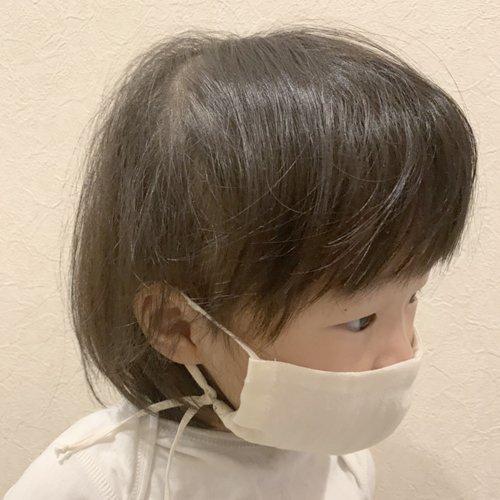 コットンガーゼ 立体マスク(子供用/4重仕立て) / オーガニックコットン