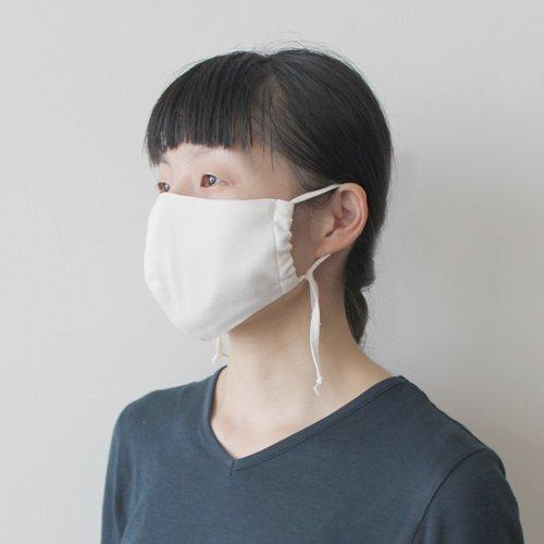 夏のコットンガーゼ立体マスク(大人用/当て布付き) /  オーガニックコットン