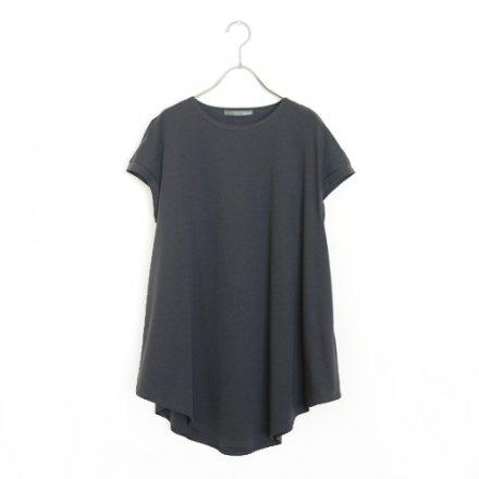 【再入荷】一枚で透けないAラインロングTシャツ / オーガニックコットン