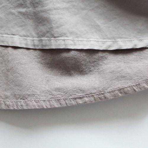 綿サテン リバーシブルスカート / オーガニックコットン