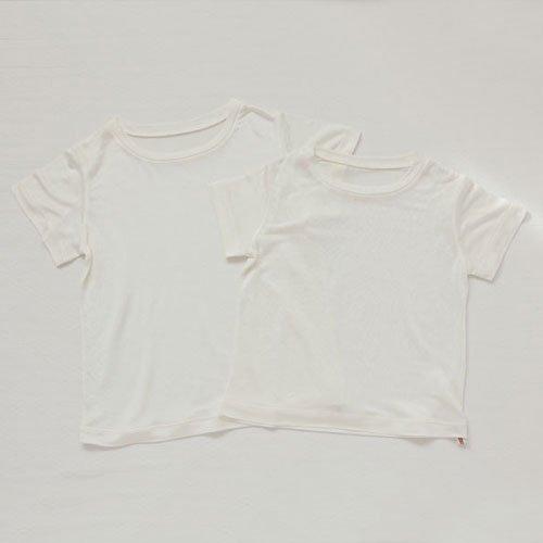 ベビーシルク半袖Tシャツ 忍田彩さんコラボ