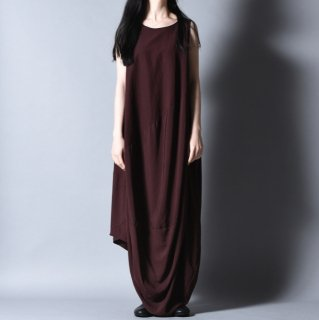 NOT by Ka na ta  球体 no sleeve one piece brown