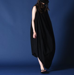 NOT by Ka na ta  球体 no sleeve one piece black