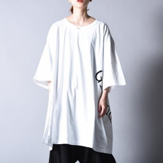 Ground Y  GYグラフィックジャンボカットソー white