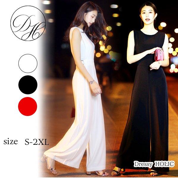 パーティードレス パンツ 結婚式 二次会 パンツドレス 結婚式ドレス お呼ばれドレス 20代 30代 40代 オールインワン 黒 赤 大きいサイズ