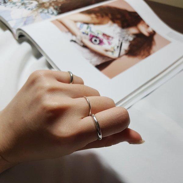 即納 リング 指輪 シルバー925 silver925 人気 韓国ファッション パーティーアクセサリー オルチャン シンプル 2点セット 結婚式 二次会 パーティー