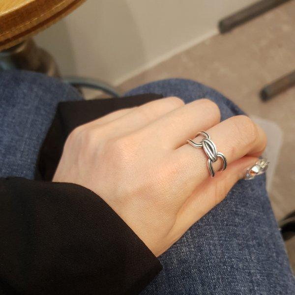即納 リング 指輪 シルバー925 silver925 オープンリング ワイドリング チェーンリング 人気 韓国ファッション パーティーアクセサリー オルチャン 重ね付け