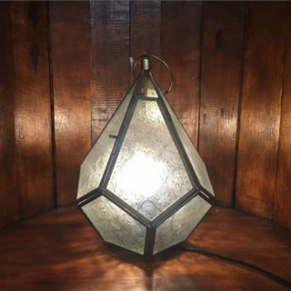 [LED対応可] エンボスガラス スタンドランプ