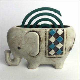 陶器製 蚊遣り ゾウ