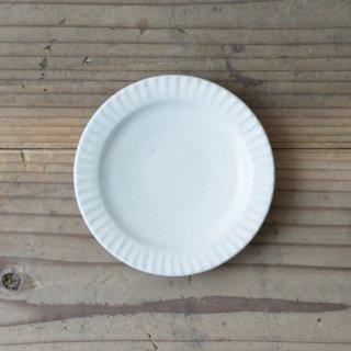 新井真之 白リム豆皿