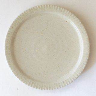 新井真之 白リム六寸皿