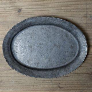 遠藤素子 鉄釉オーバル皿(大)