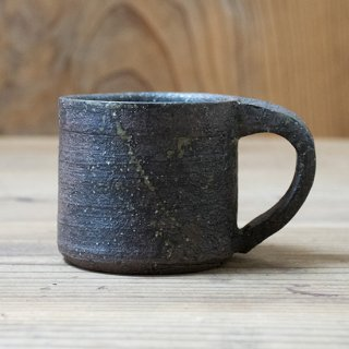 遠藤素子 灰黒釉マグカップ