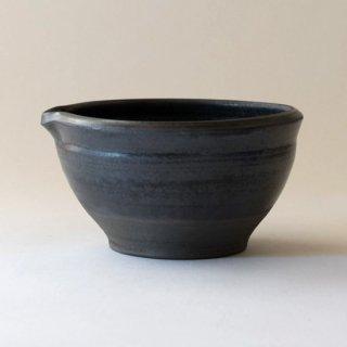 廣川智子 黒釉すり鉢