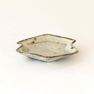 平野日奈子 粉引菱形くびれ豆皿