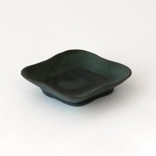 平野日奈子 コバルト釉菱形豆皿