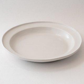 大江憲一 男子カレーパスタ皿(白)