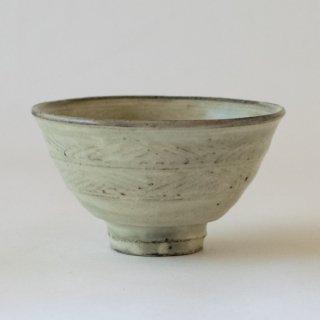 増田勉 粉引彫り三島飯碗