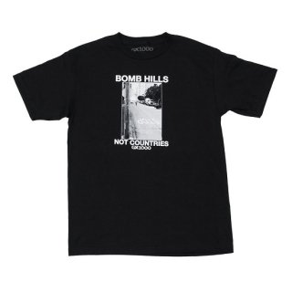 GX1000 【BOMB HILLS NOT COUNTRIES】 S/S TEE (Black) ジーエックスセン Tシャツ