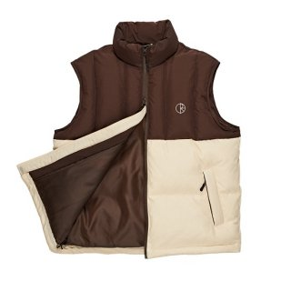 <img class='new_mark_img1' src='//img.shop-pro.jp/img/new/icons20.gif' style='border:none;display:inline;margin:0px;padding:0px;width:auto;' />【POLAR】Combo Puffer Vest Brown / Cream ポーラー  ダウン ジャケット
