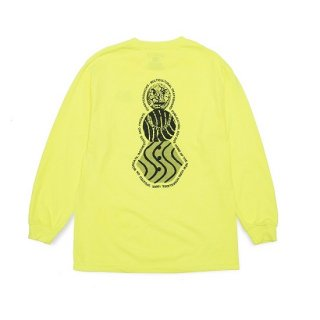 QUARTER SNACKS  FLYER  SNACKMAN L/S TEE Neon Yellow クォータースナックス ロンT