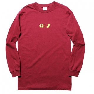 WHIMSY 【FRESH DELIVERY L/S TEE BURGUNDY】 ウィムジー