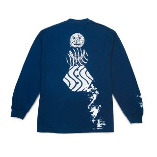 QUARTERSNACKS SPLATTER LONG SLEEVE TEE-NAVY
