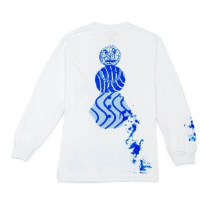QUARTERSNACKS SPLATTER LONG SLEEVE TEE-WHITE