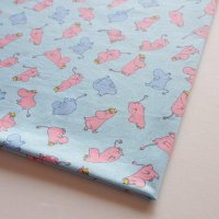 Moomin/ムーミン ヴィンテージファブリック/パステルブルー 74×57